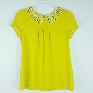 Anthropologie | Postmark Size Small Yellow Beads